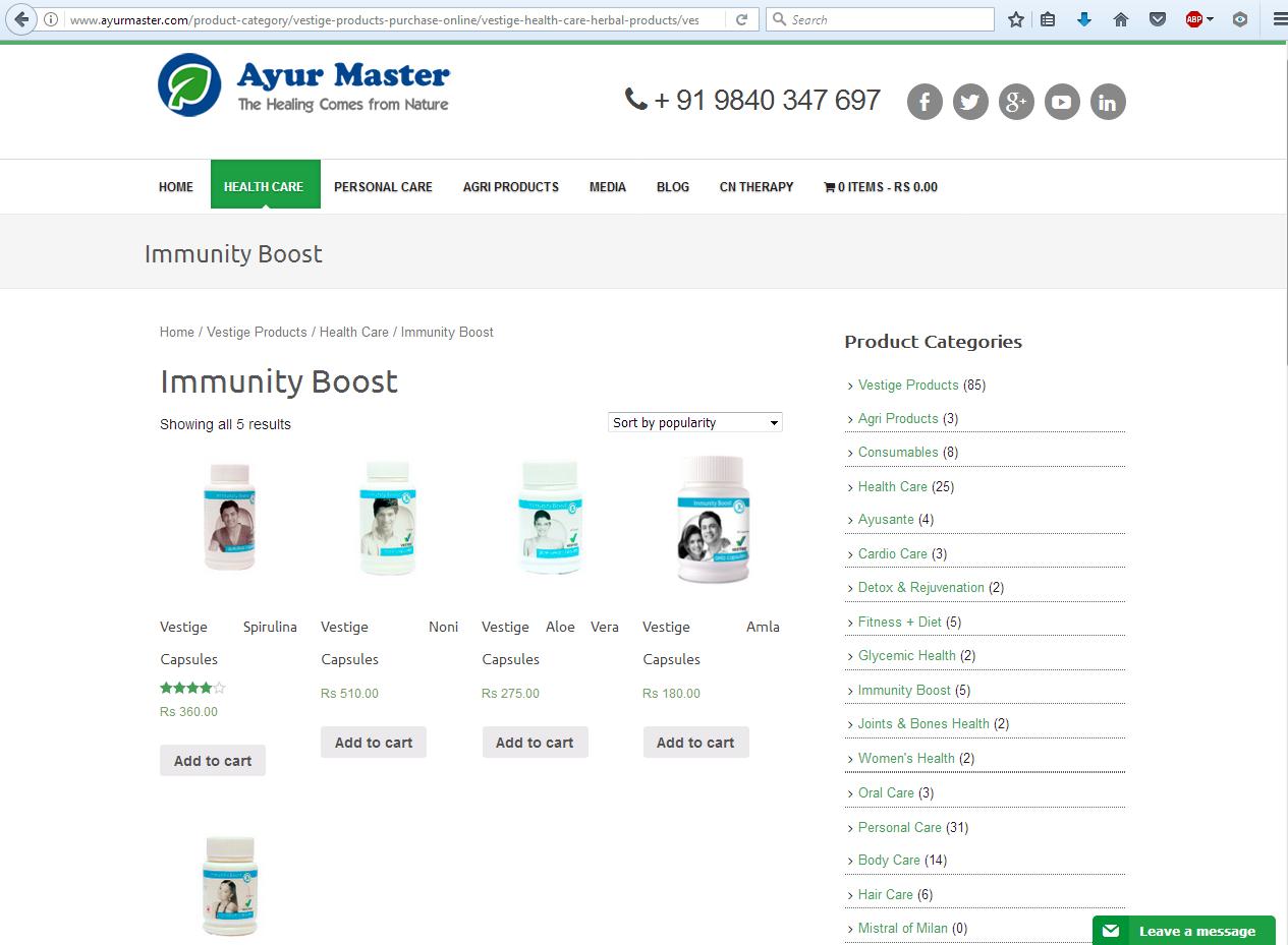 ayurveda vestige best health care products